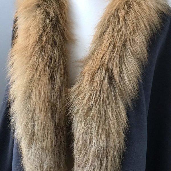 Cape cashmere Gold fox fur trim