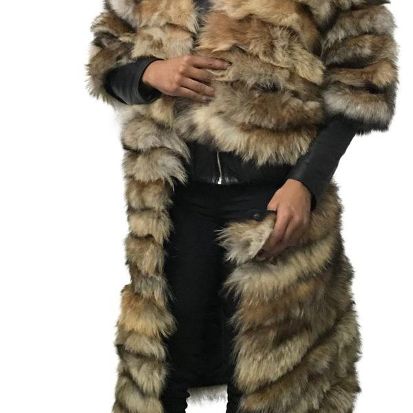 Coat Transformer red fox fur